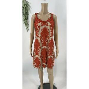 Chelsea & Violet Sheath Dress Size M Red Lace